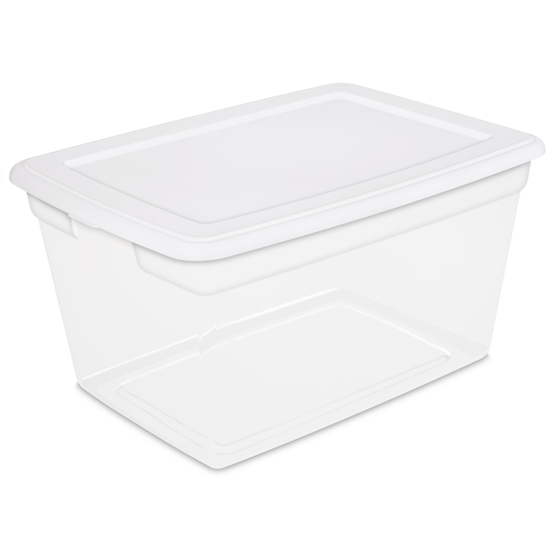 6 Pack Sterilite Orange 64 Quart Latching Plastic Storage Box Container Tote