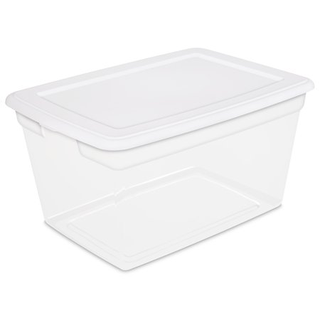 Sterilite 58 Qt./55 L Storage Box, White - Cheap Store