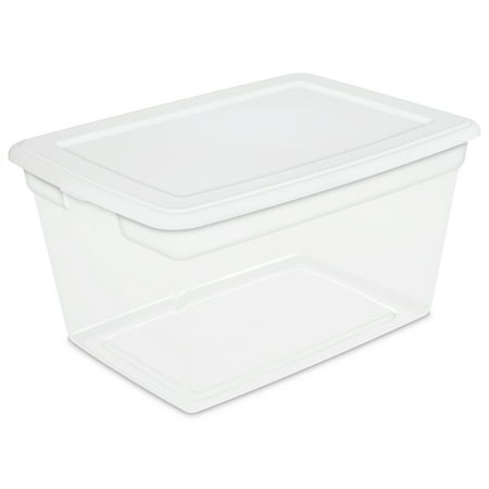 Sterilite 14.5 Gallon White Storage Box ()