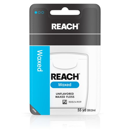 ((4 pack) Reach Waxed Dental Floss, Unflavored, 55 Yards)