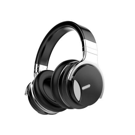 COWIN E7 MD Active Noise Cancelling Bluetooth Headphones with Microphone Deep Bass Wireless Headphones Over Ear, Comfortable Protein Earpads, 30H Playtime for Travel Work TV Computer