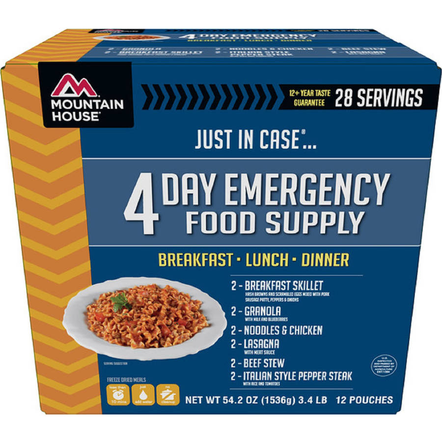 Mountain House Just In Case...® 4-Day Emergency Food Supply
