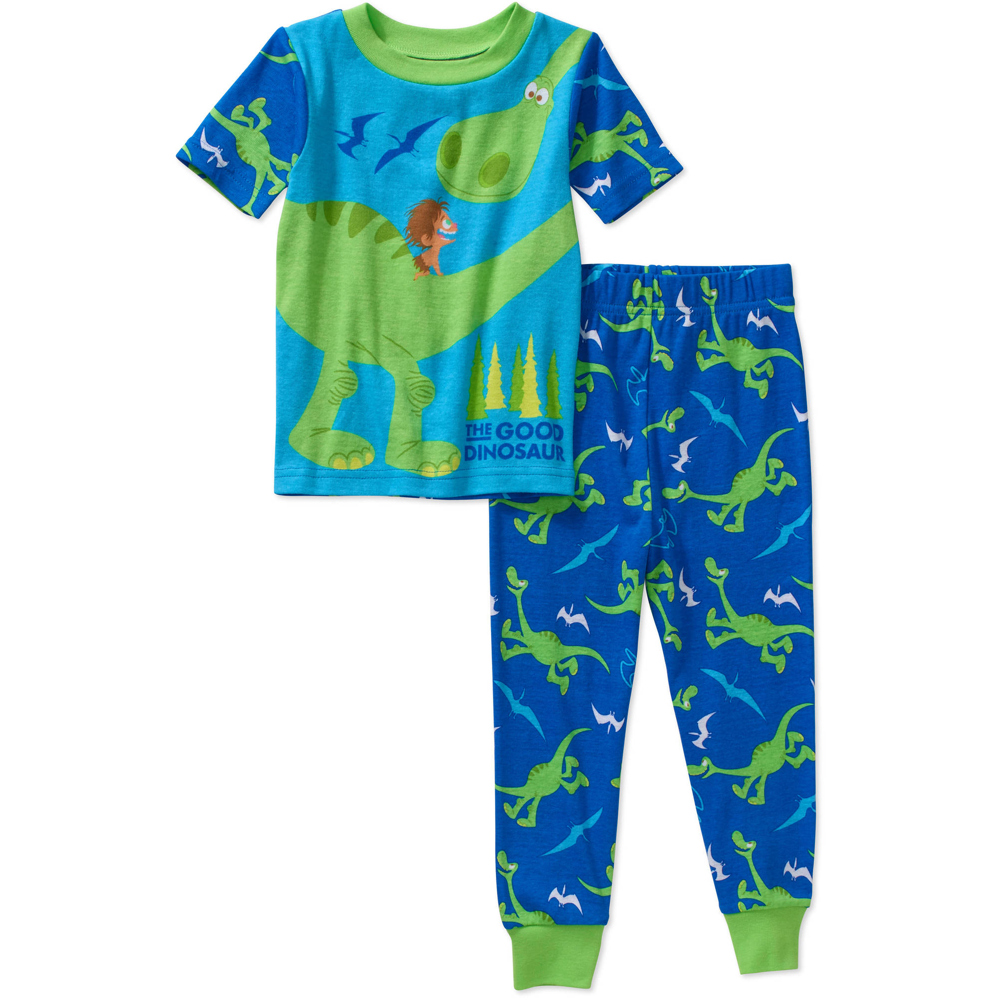 The Good Dinosaur Toddler Boys' Licensed Cotton Pajama Sleepwear Set