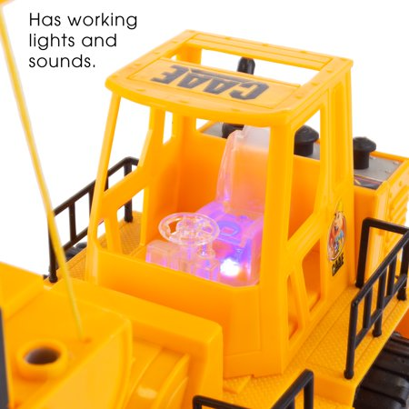 Remote Control Toy Forklift– 1:24 Scale, Fully Functional RC Fork Truck with Lights and Sound by Hey! Play!