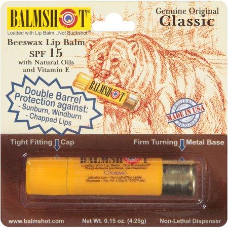 Original Balmshot Véritable classique de cire d'abeille Baume à lèvres, SPF 15, 0,15 oz