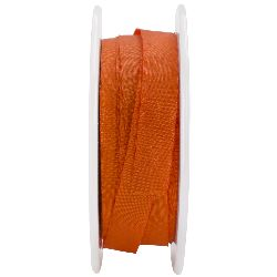 """Solid Wrinkled Ribbon 1/2""""X50 Yards-Orange"""