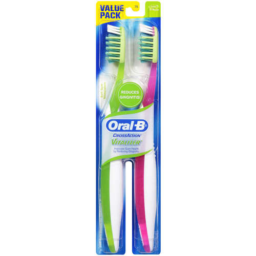 Oral-B CrossAction Vitality Soft Toothbrush, 2 ct