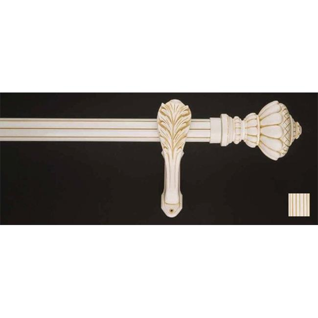 WinarT 8. 1180. 45. 31. 120 Palas 1180 Curtain Rod Set - 1. 75 inch - White-Biege - 48 inch