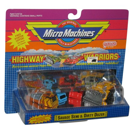 Micro Machines Savage Semi & Dirty Dozer Galoob Toy Car Set ()