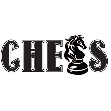 "Chess Vinyl Wall Decal - Board Game Decor | Sticker | Lettering - 20""x8"" [CH3]"