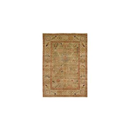Harounian Rugs 10604 Peshawar P-6 Light Green - Ivory 9 X 12 ft. Rug