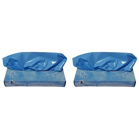 100 Total Bags (Heaven Scent Scented Hygiene Bags, 100 Total Disposal Waste Bags (Pack of 2) )
