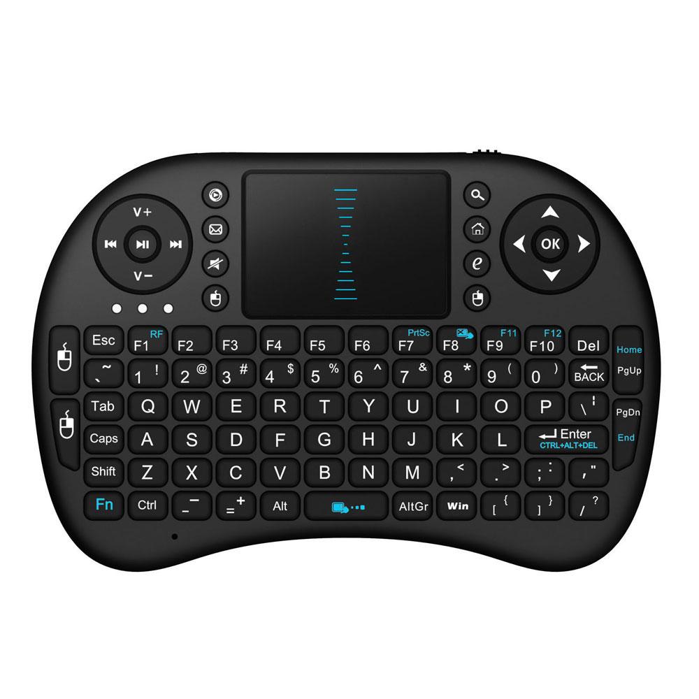 i8 Classic Mini Wireless Keyboard Touchpad Black