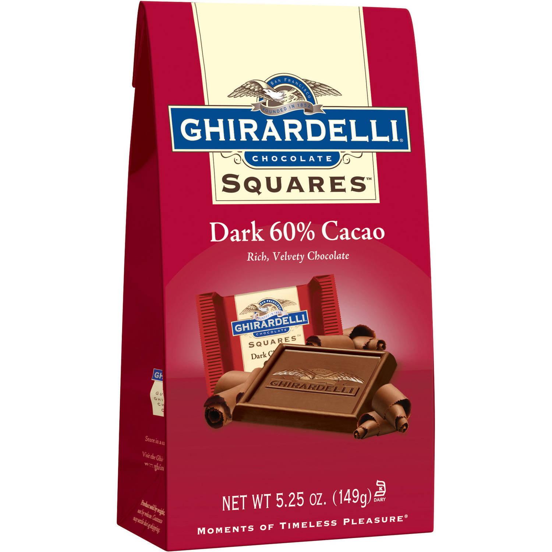 Ghirardelli Chocolate Squares 60% Cacao Dark Chocolate, 5.25 oz
