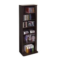 "Atlantic 43"" Canoe Multimedia Bookcase Storage Shelf (231 CDs, 115 DVDs, 140 BluRays)"