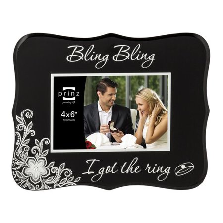 Prinz She Said Yes Bling Bling Glass Picture Frame Walmartcom