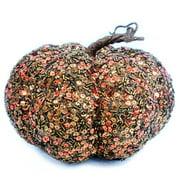 Brown Sequin Pumpkin Decoration