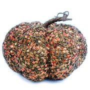 Brown Sequin Pumpkin Decoration