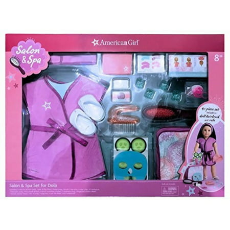 American Girl Salon & Spa -41 Piece Set Includes a doll hairbrush and robe ()