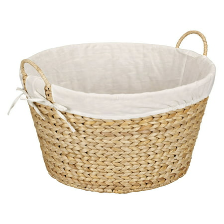 Household Essentials Banana Leaf Round Laundry Basket ()