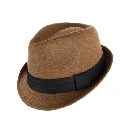 Unisex Fedora with Large Black Band](Fedora Black)