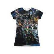 Jla - Forever Evil (Front/Back Print) - Juniors Cap Sleeve Shirt - Small