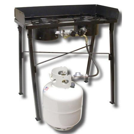 "King Kooker CS33LP 30"" Portable Low Pressure Double Burner Camp Stove"