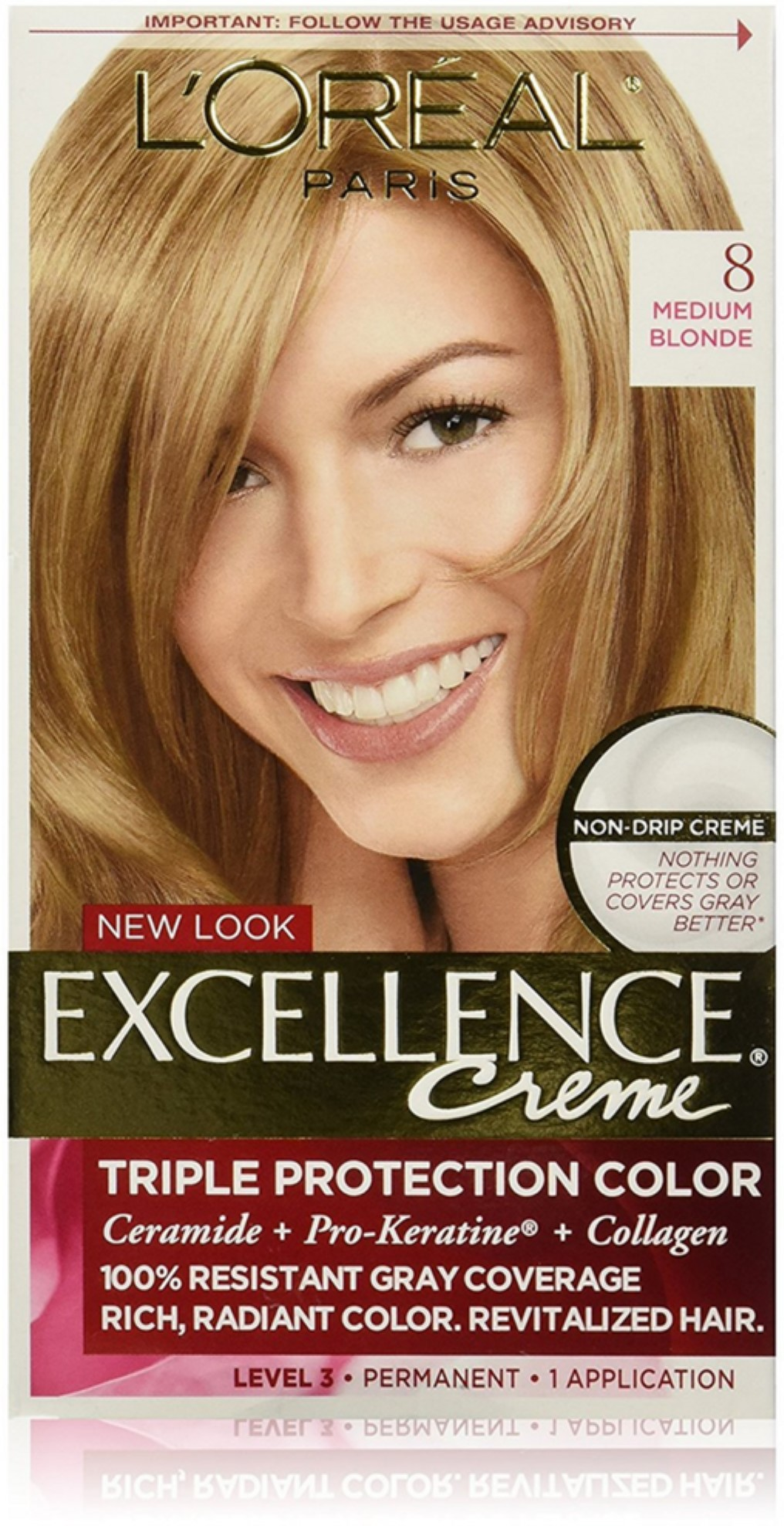 6 Pack Loreal Paris Excellence Crme Permanent Hair Color 8