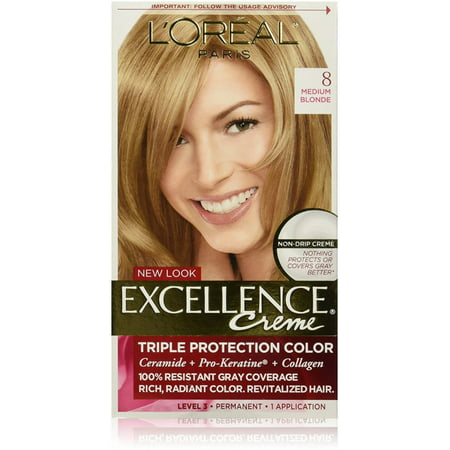 L'Oreal Paris Excellence Créme Permanent Hair Color, 8 Medium Blonde 1