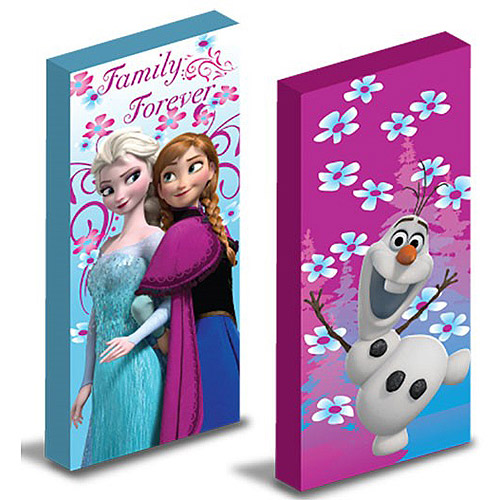 Disney Frozen Glow in the Dark Canvas Wall Art, 2-Pack