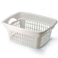 Rubbermaid FG287400WHT Laundry Basket, 1.25 bushel, 13.8 in H x 19.3 in W x 23.9 in D 8 Pack