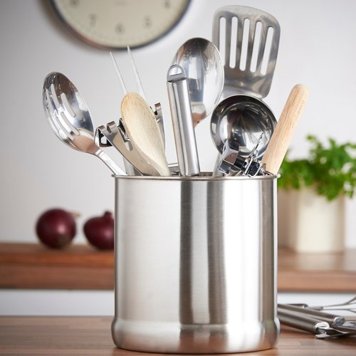 VonShef 7'' Stainless Steel Kitchen Utensil Holder