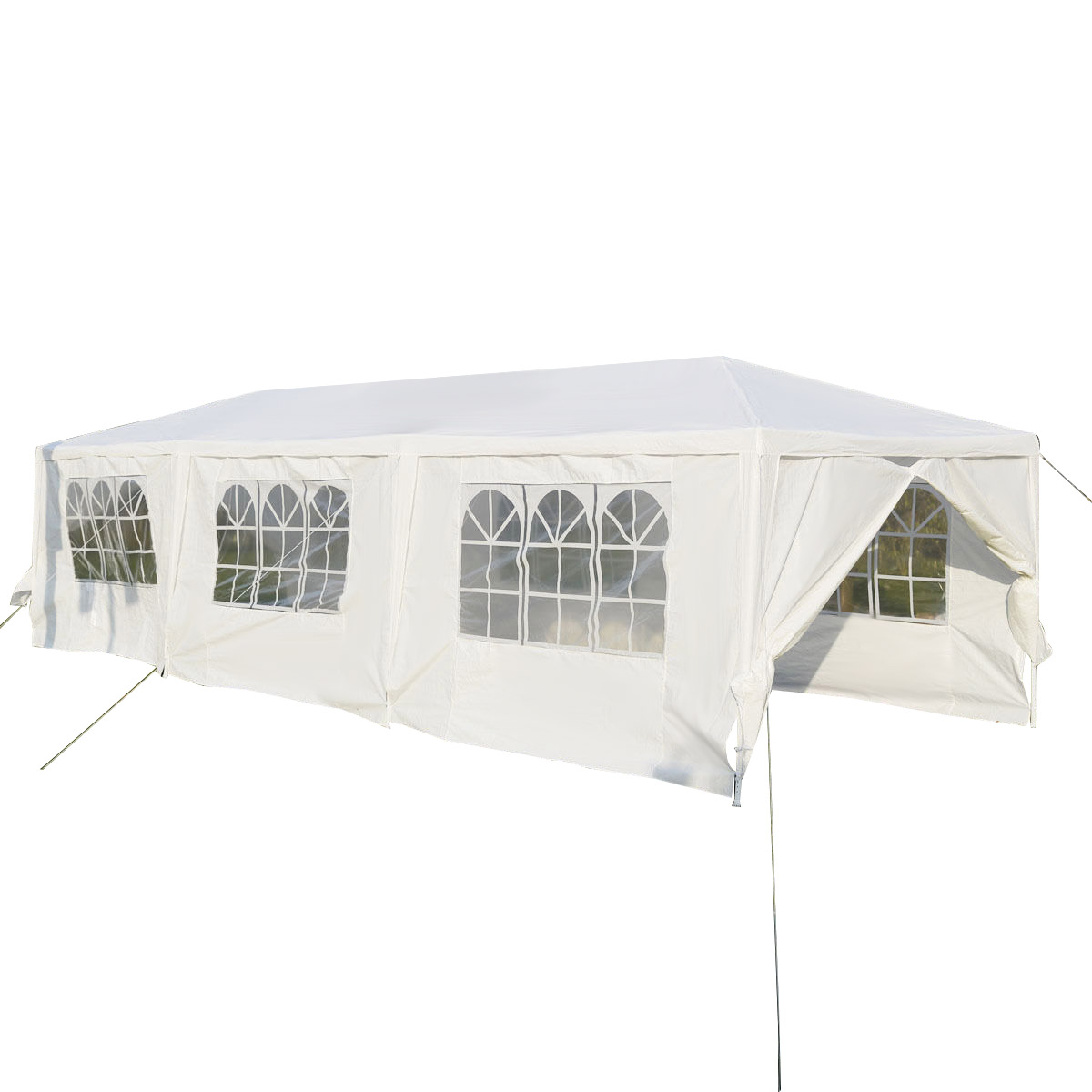Gymax White Wedding Tent 10'x30'Outdoor Party Canopy Events - image 2 of 10