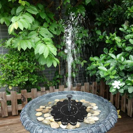 Solar Fountain Pump, Solar Bird Bath Outdoor Fountain Pump Solar Panel Floating Fountain Pump Kit Submersible Water Pump for Pond, Fish Tank,Garden or Patio Decoration