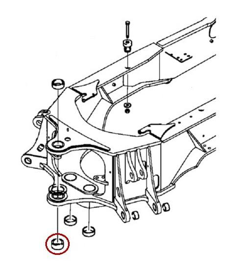D151070 New Case 580l 580sl 580m 580sm Lower Backhoe Frame Bushing