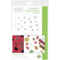 Gina K Designs Stampnfoil Foil-Mates Detail Sheets 10/Pkg-Thankful Leaves