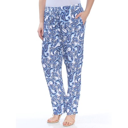 RALPH LAUREN Womens Blue Twill Skinny Printed Pants  Size: 14 Baby Girl Ralph Lauren Pants