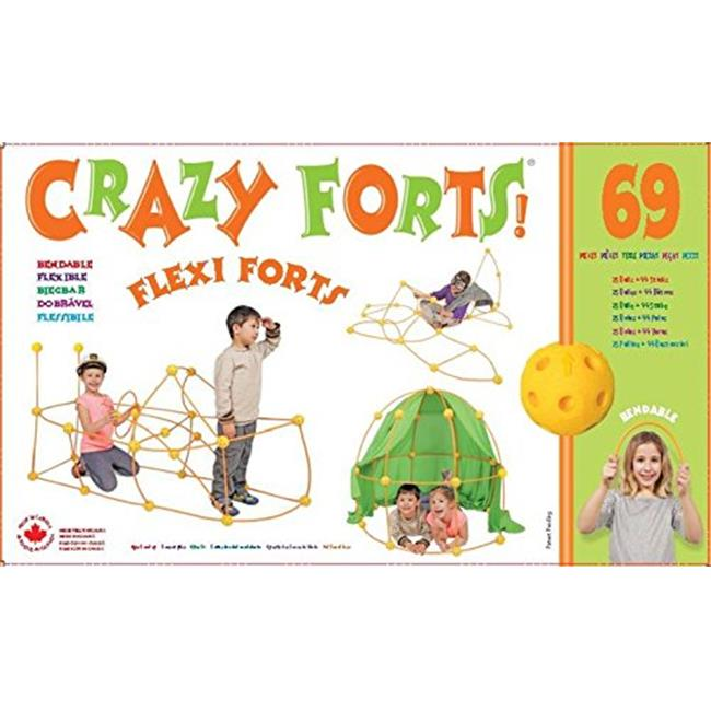 Brybelly TEVE-46 Crazy Forts! Flexi Forts 69 Piece Set - image 1 of 1