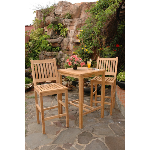 Anderson Teak Avalon 3 Piece Bar Set by Anderson Collection