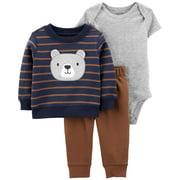 Carter's Baby Boys' 3-Piece Brown Bear Little Pullover Set - 3 Months