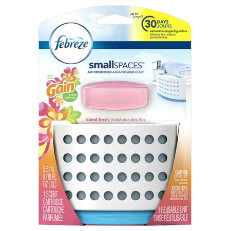 (Febreze SmallSpaces with Gain Island Fresh Scent Starter Kit Air Freshener (1 Count, 5.5 mL))
