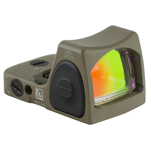 Trijicon RMR Type 2 Adjustable LED Sight 3.25 MOA Red Dot Reticle, Cerakote Flat Dark Earth