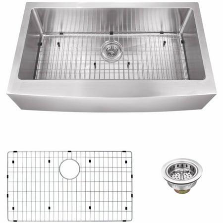 Cahaba ca231sb35 luxury single bowl undermount extra large apron front farmhouse kitchen sink - Extra large farmhouse sink ...