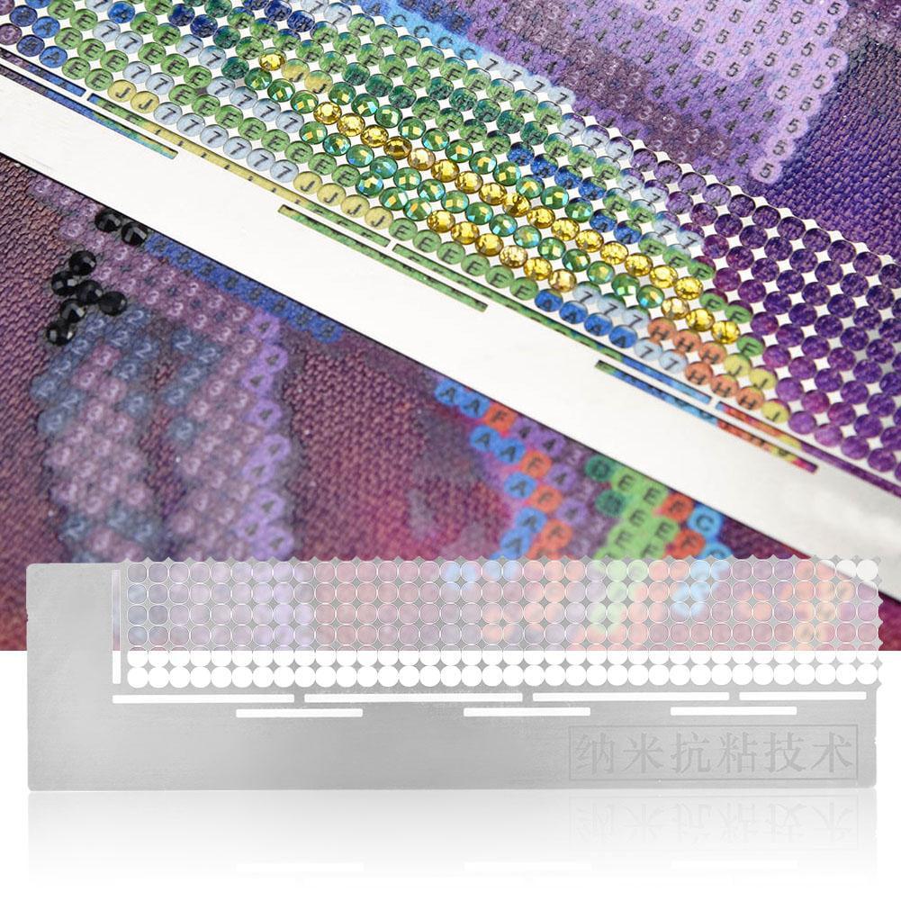 Diamond Painting Ruler DIY Rhinestone Embroidery Painting Ruler Diamond Embroidery Mesh Ruler Dot Drill Accessory Tool