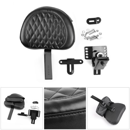 Areyourshop Motorcycle Driver Backrest Rider Diamond Pad For Harley Touring FLHT 1997-2017 Adjustable Plug-In Driver Rider Backrest Kit For Harley Touring FLHR FLHX 97-17 (Driver Motorcycle Backrest)