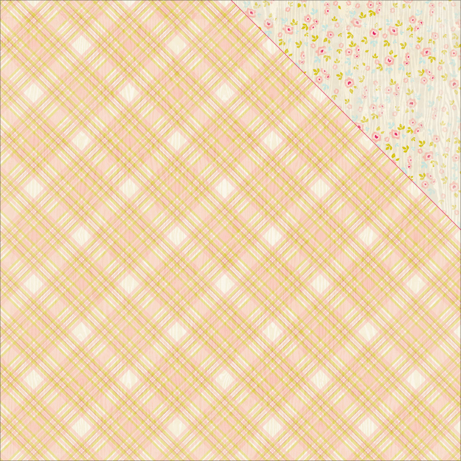 Cuddle Girl Double-Sided Cardstock 12 Inch X 12 Inch-#5 Madras Pla