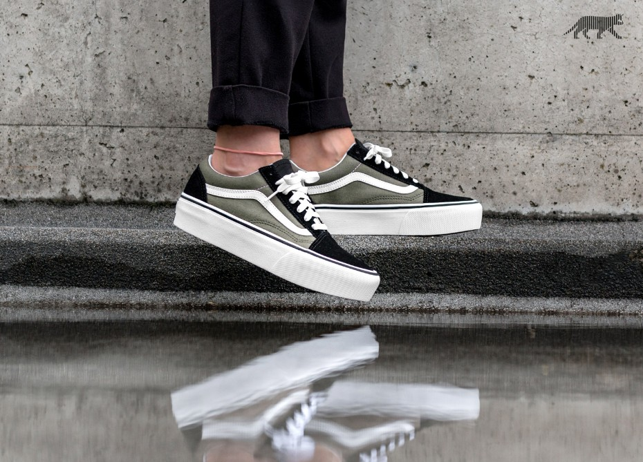 old skool platform vans