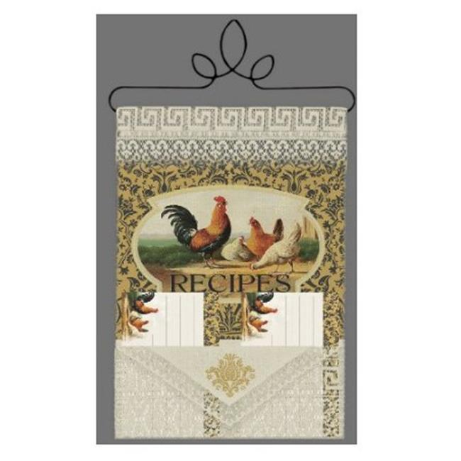 Heritage Lace WH74C-0603 Rooster 8 x 12 in. Recipe Holder - Cafe - image 1 of 1
