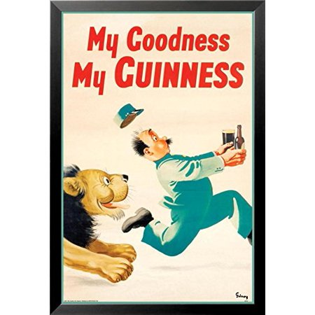 Buyartforless Framed Guinness Beer My Goodness My Guinness By Gilroy 36X24 Advertising Art Print Poster Irish Stout Brew