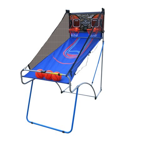 Lancaster Sports EZ-Fold 2 Player Indoor Traditional Arcade Basketball